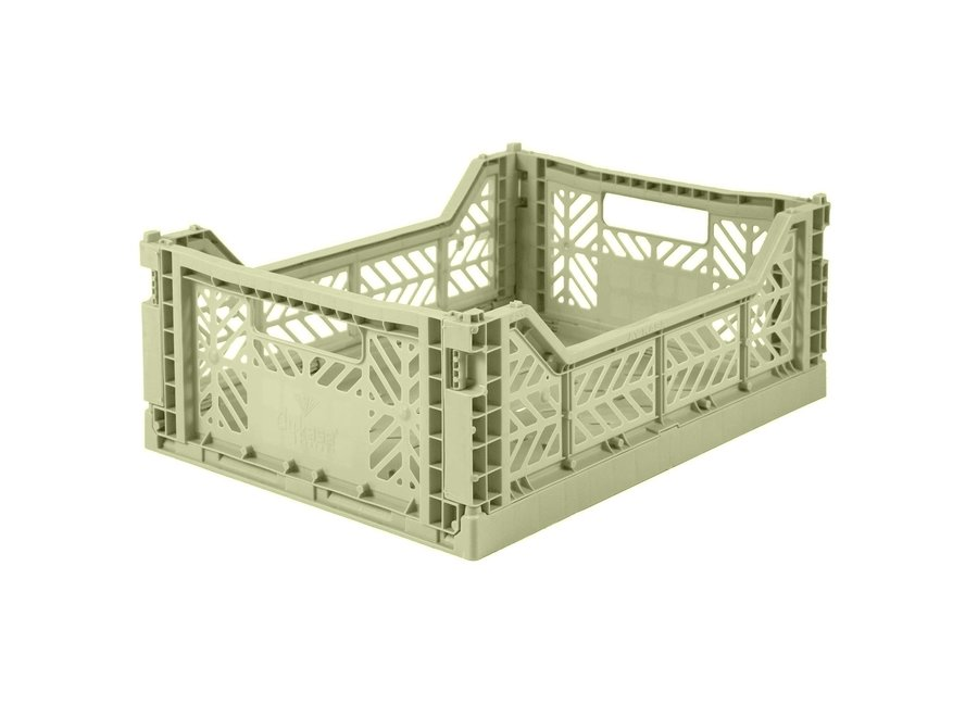 Lillemor - Folding Crate 'Lime' - Medium