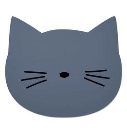 Liewood - Placemat Cat 'Blue wave'