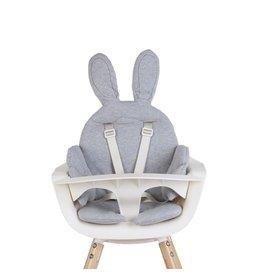 Childhome - Rabbit stoelkussen Jersey Grey