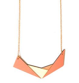 Ella Marie Ella Marie - Halsketting Geometrisch - Koraal / Rosé goud