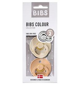 BIBS BIBS - Fopspeen Blister Vanilla / Peach
