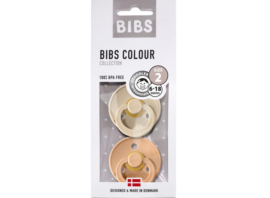 BIBS - Fopspeen Blister Vanilla / Peach