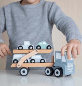 Little Dutch Little Dutch - Houten transportwagen Blue