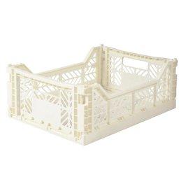 Lillemor - Folding Crate 'Coconut' - Medium
