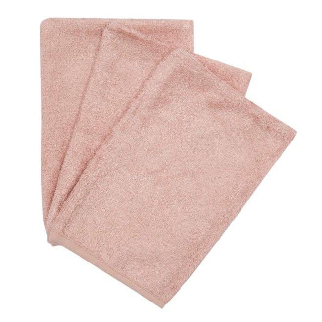Timboo - Set van washandjes - Misty Rose