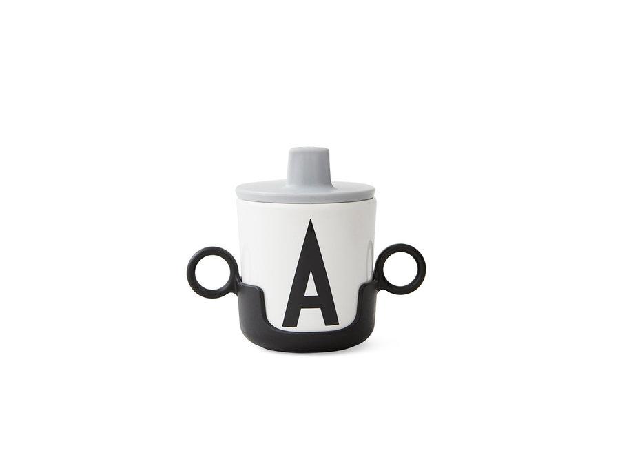 Design Letters - Handle for melamine cup - Black