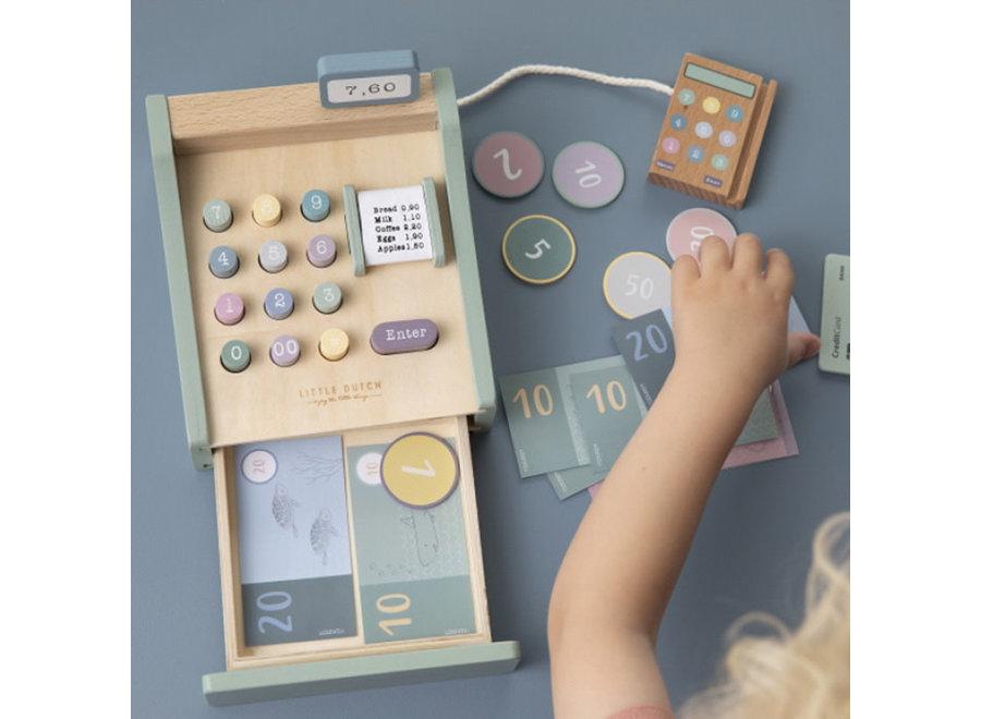 Geboortelijst - Little Dutch - Houten Kassa Mint