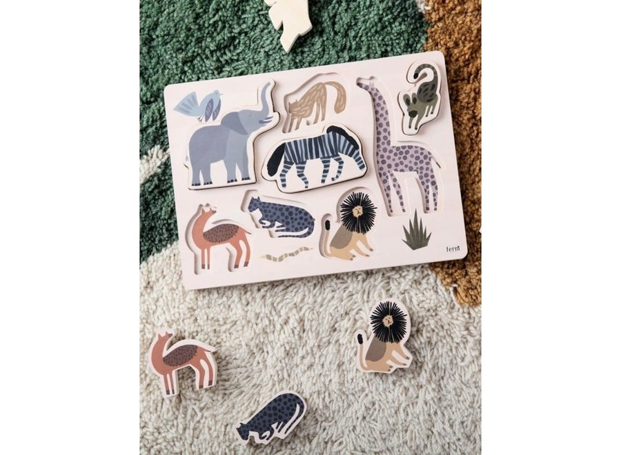 Geboortelijst -  Ferm Living - Safari inlegpuzzel
