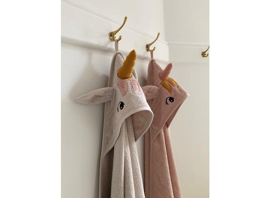 Liewood - Augusta hooded towel - Unicorn Sorbet Rose