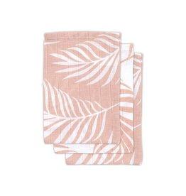Jollein Jollein - Washandje Nature - Pale Pink (3 pack)