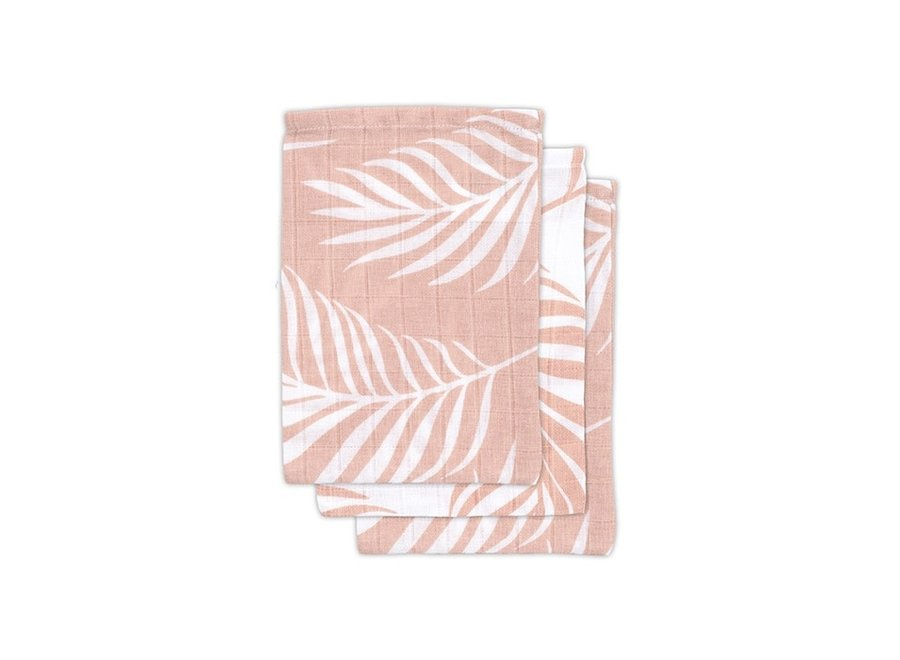 Jollein - Washandje Nature - Pale Pink (3 pack)