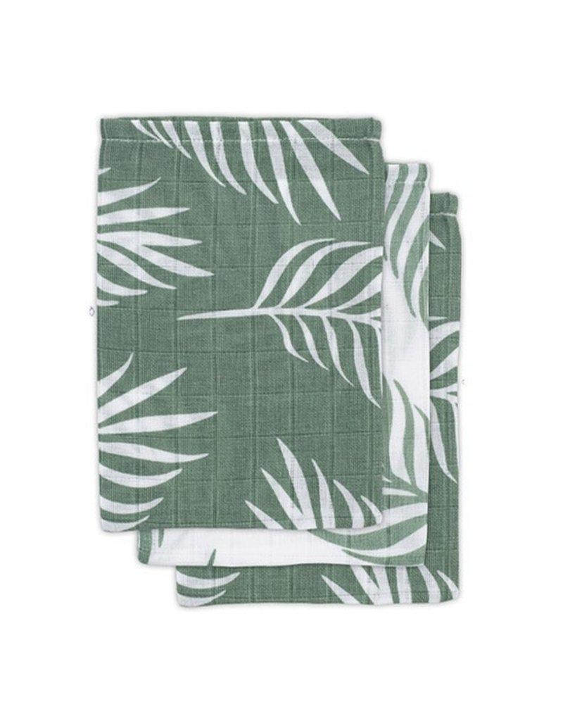 Geboortelijst - Jollein - Washandje Nature - Ash Green (3 pack)