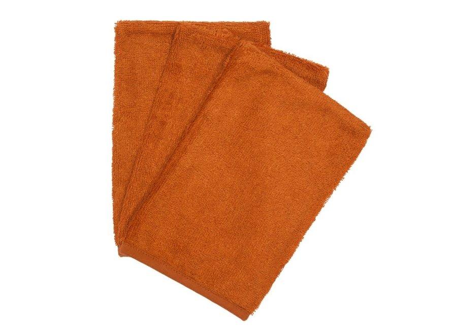 Timboo - Set van washandjes - Inca Rust