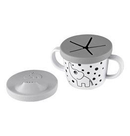 Done By Deer - Snack & Drink  Cup - Elphee Grey