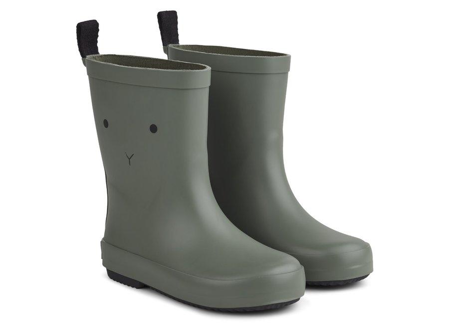 Liewood - Rio Rain Boot - Rabbit faune green