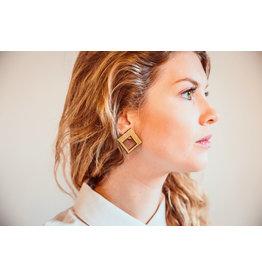 Ella Marie Copy of Ella Marie - Grote vierkante stekers - Zwart