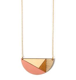 Ella Marie Ella Marie - Necklace Moon- Ochre / Salmon Pink