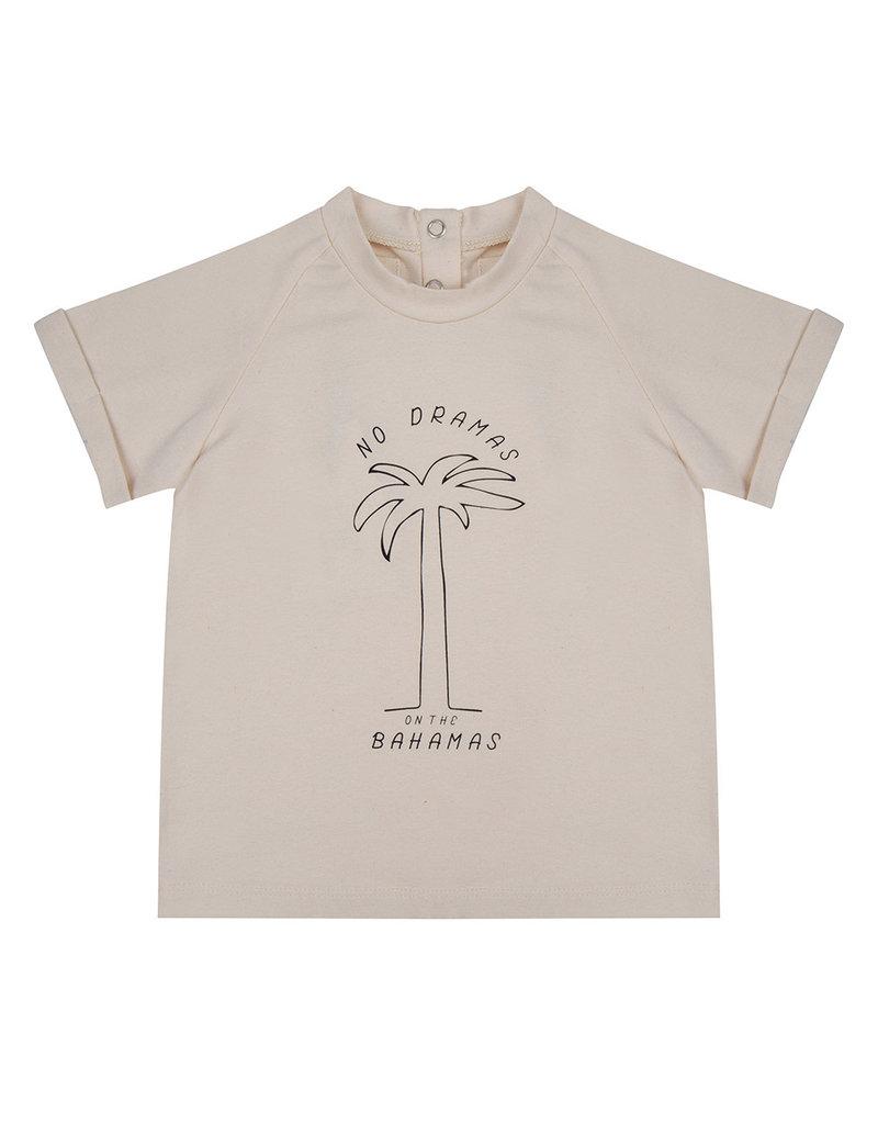 Little Indians Little Indians - T shirt No Dramas on the Bahamas - Ecru
