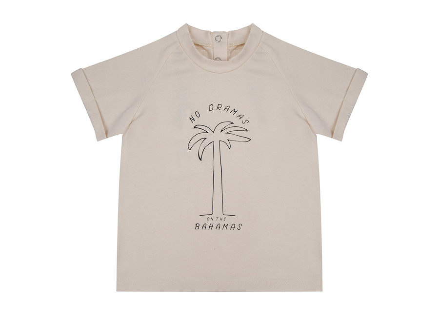 Little Indians - T shirt No Dramas on the Bahamas - Ecru