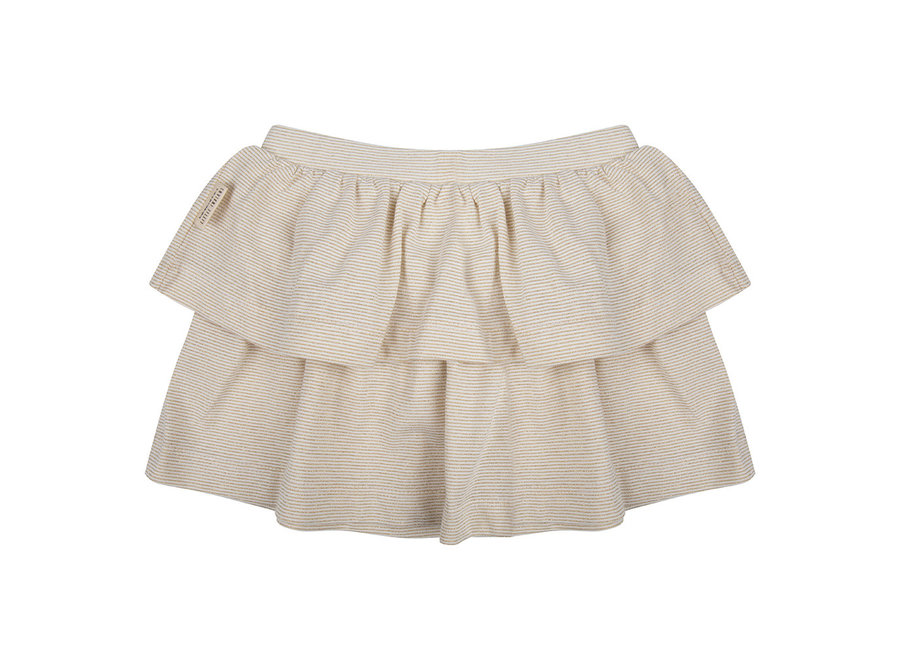 Little Indians - Skirt Gold Stripe