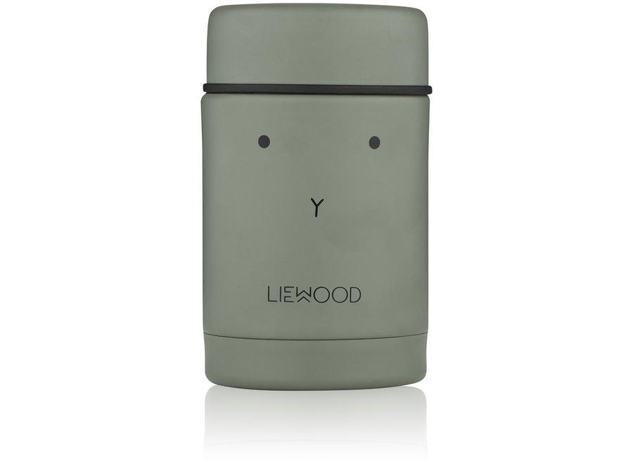 Liewood - Nadja Food Jar - Rabbit Faune Green