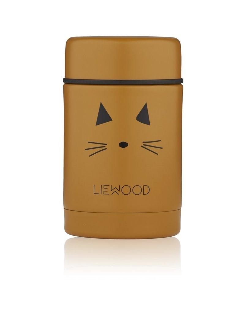 Liewood Liewood - Nadja Food Jar - Cat Mustard