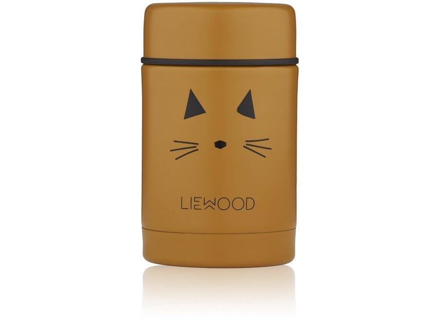 Geboortelijst Annelies - Liewood - Nadja Food Jar - Cat Mustard