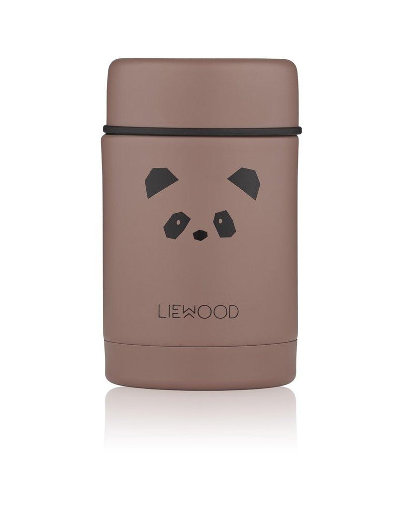 Liewood Liewood - Nadja Food Jar - Panda Dark Rose