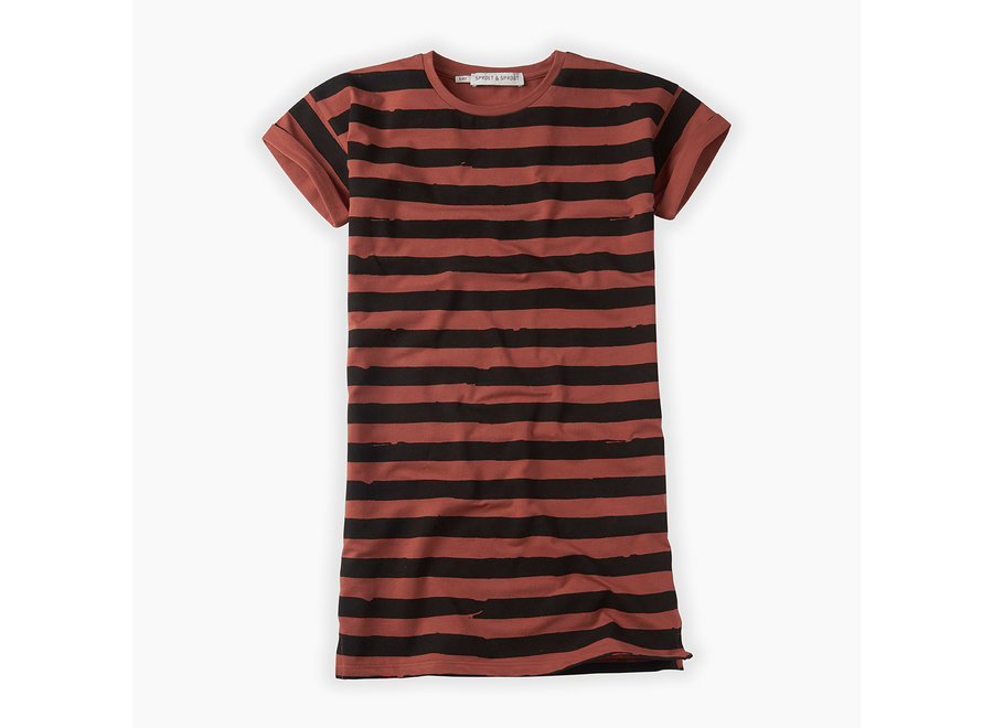 Sproet & Sprout - T-shirt dress Painted Stripe - Mango