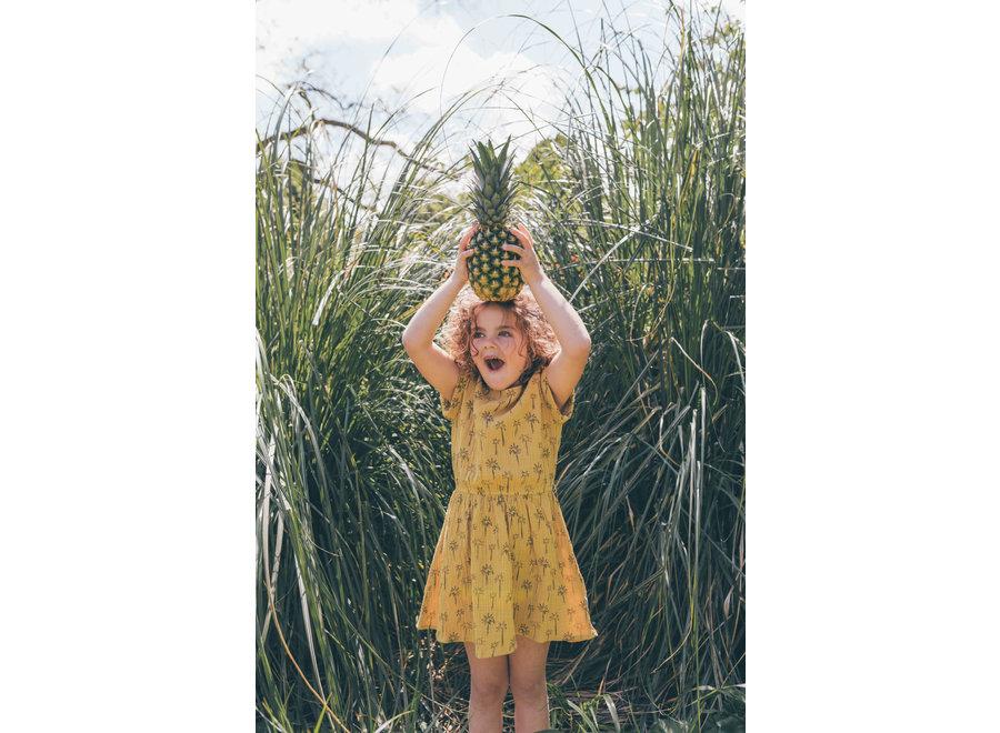 Sproet & Sprout - Dress print Palm Tree - Curcuma