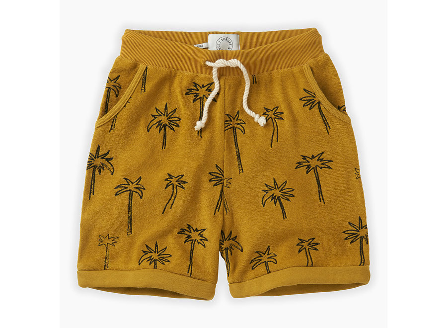 Sproet & Sprout - Shorts terry Palm Tree - Curcuma