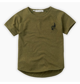 Sproet & Sprout Sproet & Sprout - T-Shirt print Cockatoo - Tropical Green