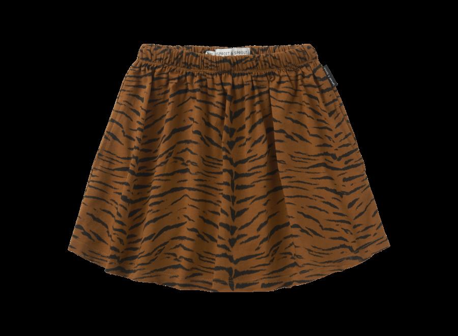 Sproet & Sprout - Skirt print Tiger - Caramel