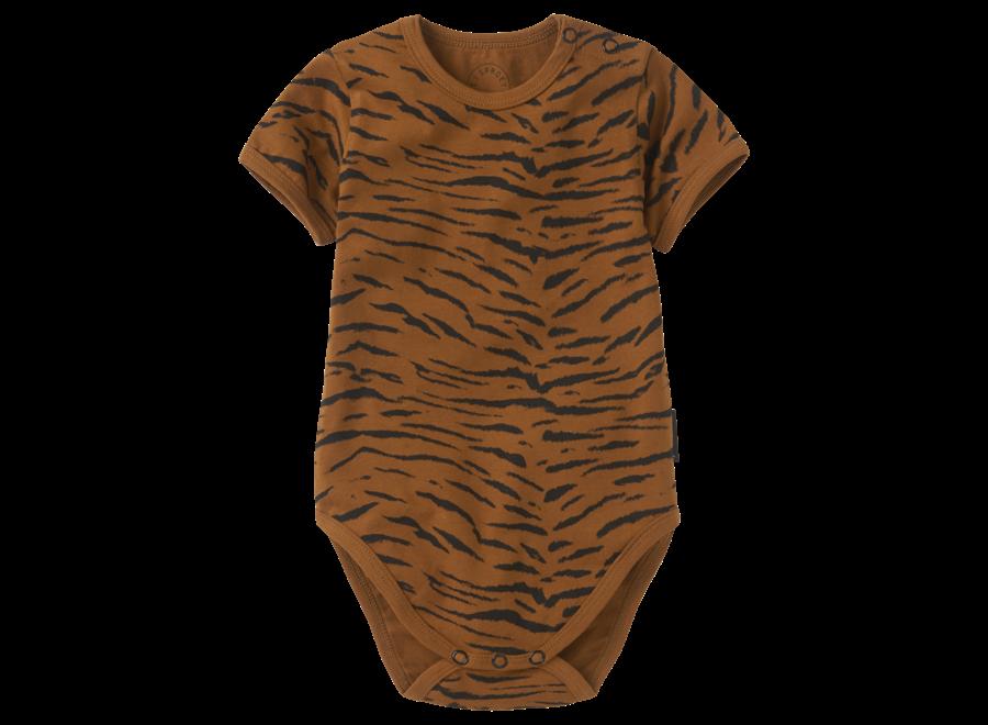 Sproet & Sprout - Romper print Tiger - Caramel