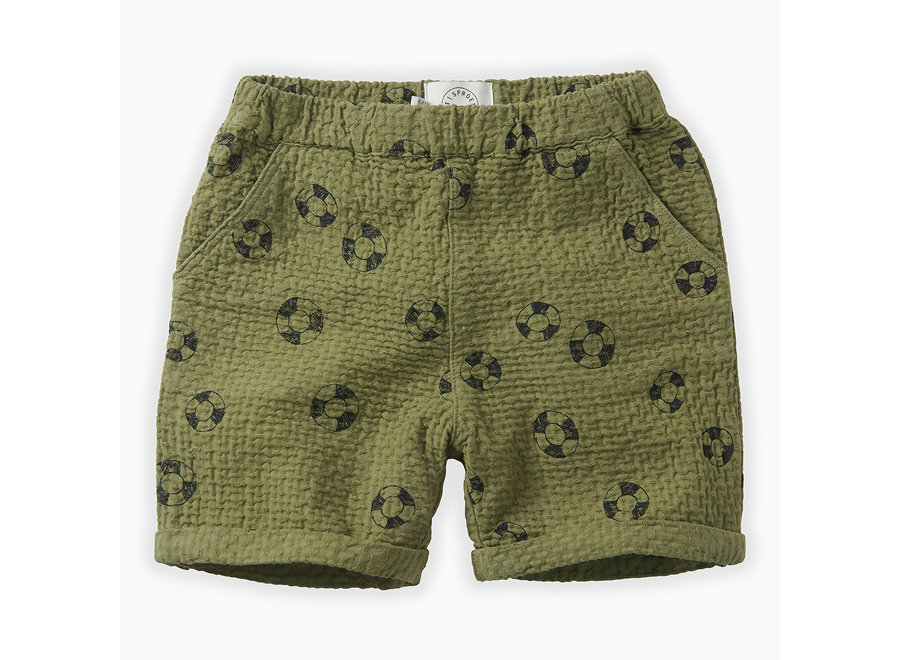 Sproet & Sprout - Shorts print Lifebuoy - Tropical Green