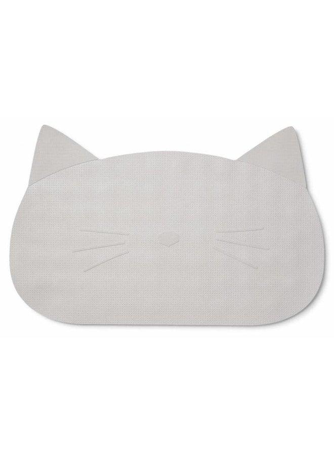Geboortelijst -  Liewood - Badmat 'Cat Grey'