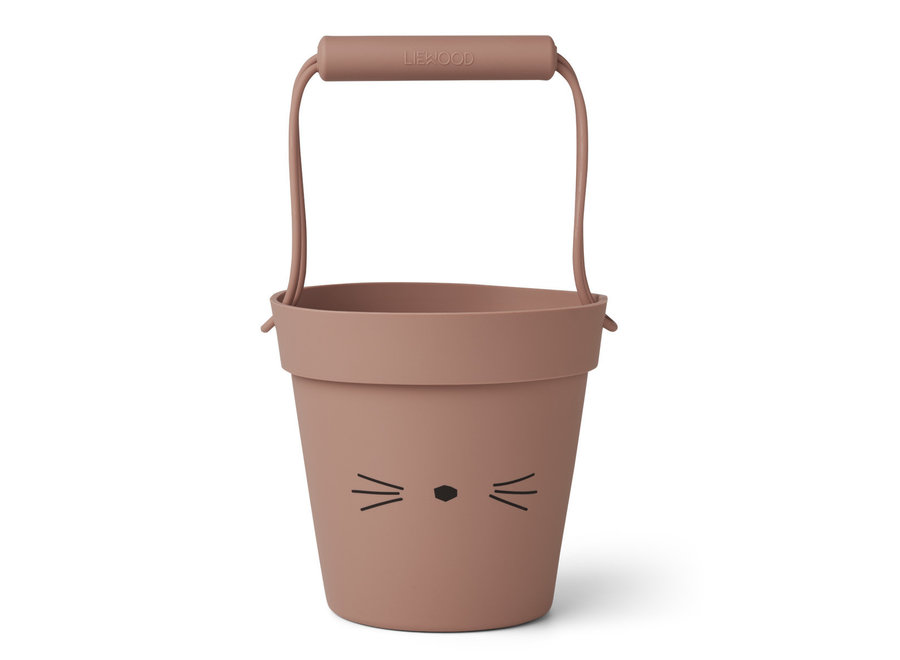 Liewood - Strandemmertje  Linda Bucket - Cat Dark Rose