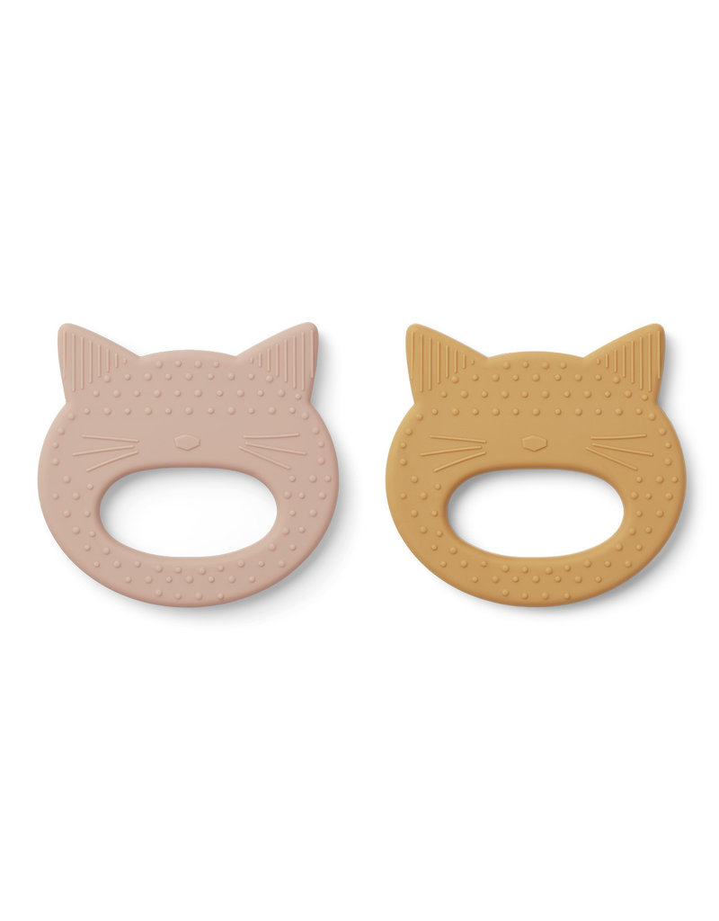 Liewood Liewood - Geo Teether (2 pack) - Cat Rose / Yellow Mellow