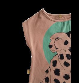 Lötiekids Lotiekids - Crop Sweatshirt Cheetah - Clay Pink