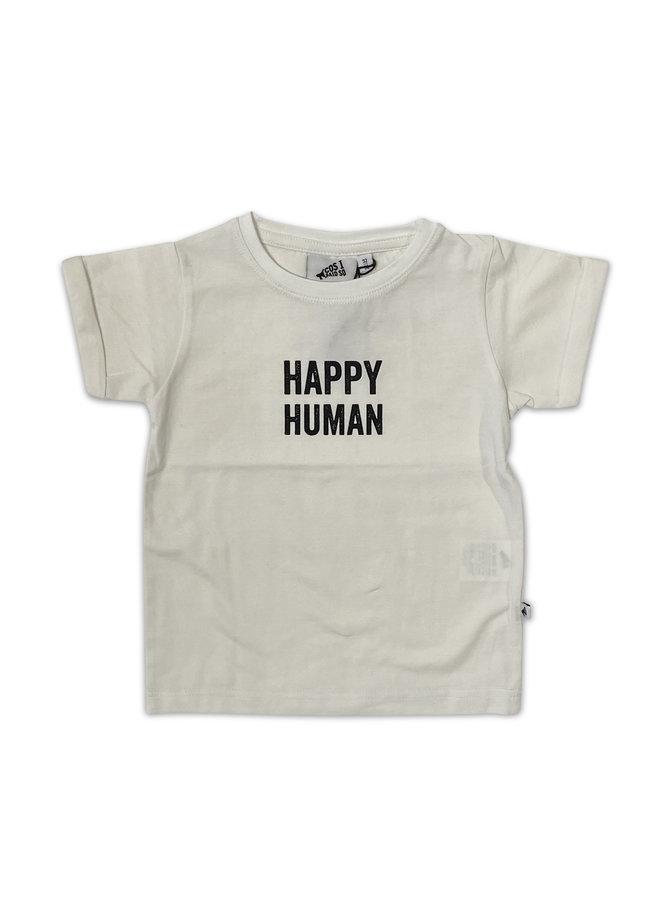 Cos I Said So - Short Sleeve T Shirte Happy Human - White