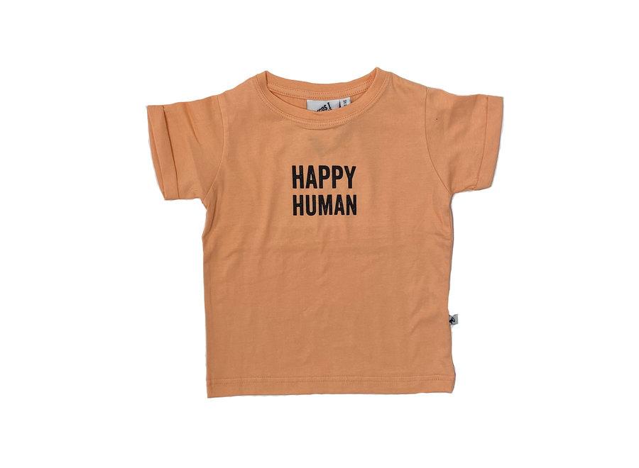 Cos I Said So - Short Sleeve T Shirte Happy Human - Peach