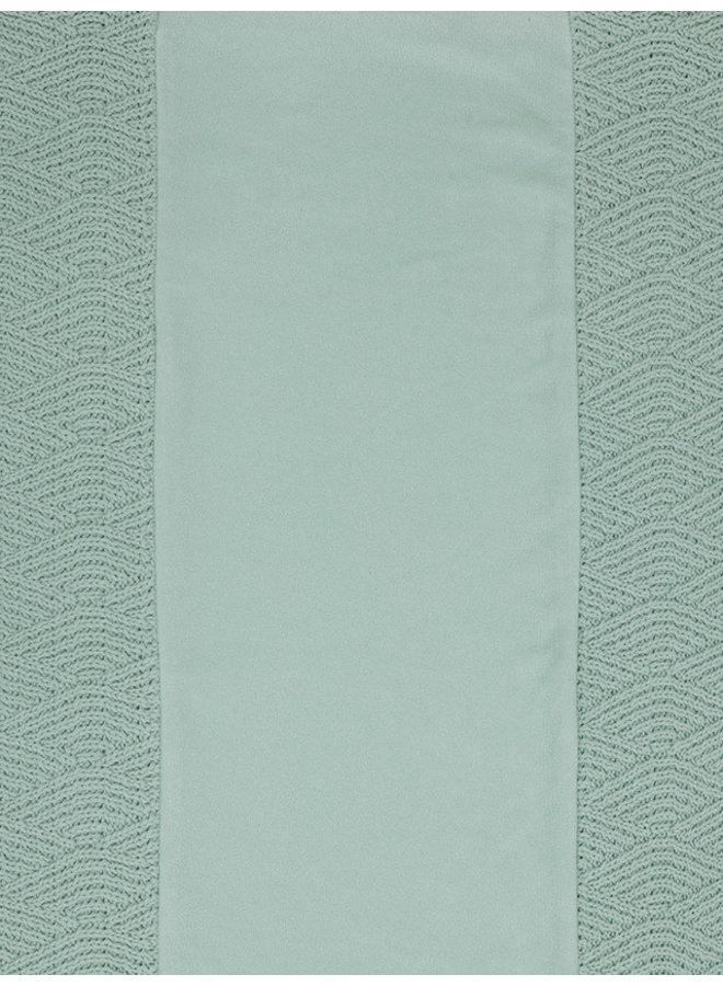 Jollein - Waskussenhoes 50x70cm River knit ash green