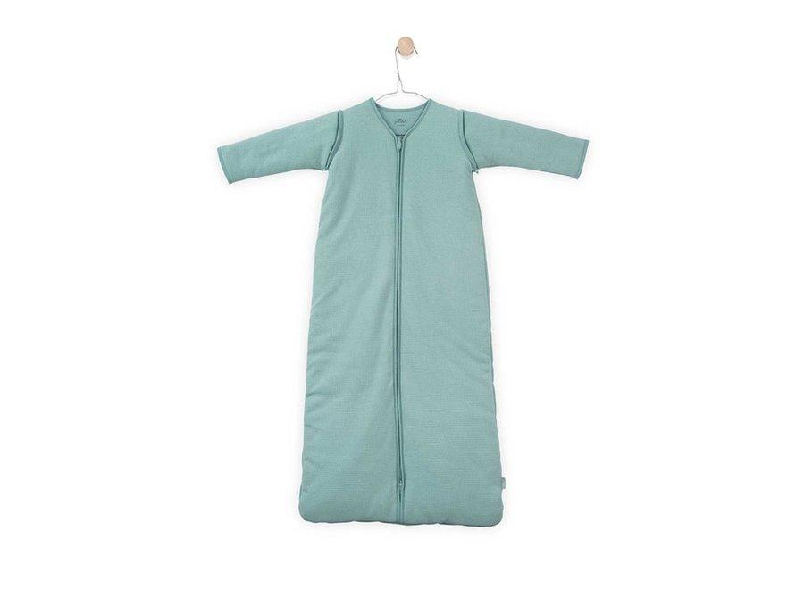 Jollein - Baby slaapzak 90cm Tiny waffle soft green m afritsbare mouw