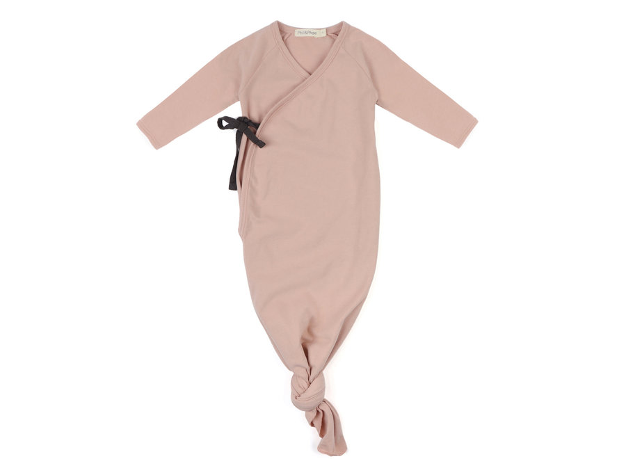 Phil & Phae -   Knotted baby gown - Blush