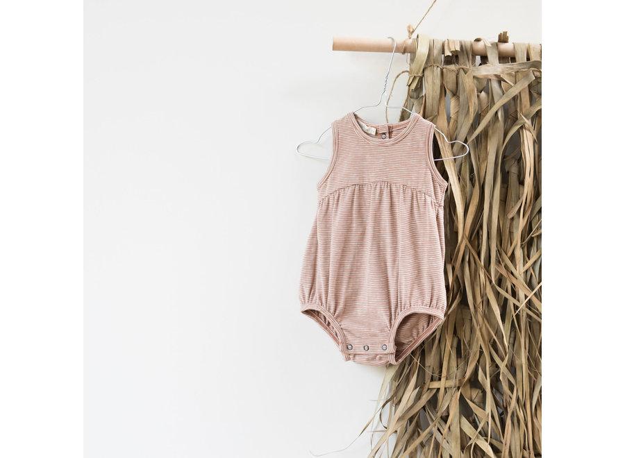 Phil & Phae - Bubble onesie stripes Sand