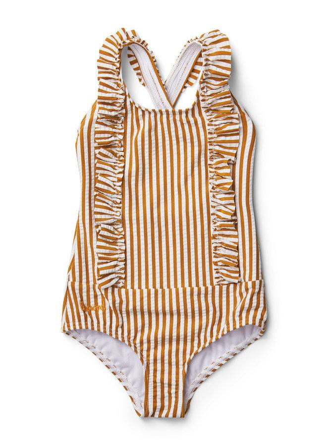 Liewood - Moa Swimsuit - Mustard Stripe