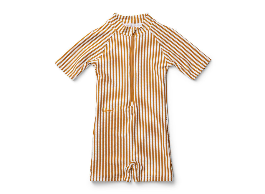 Liewood - Max Swimsuit - Mustard Stripe
