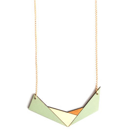 Ella Marie Ella Marie - Geometrische halsketting - Munt