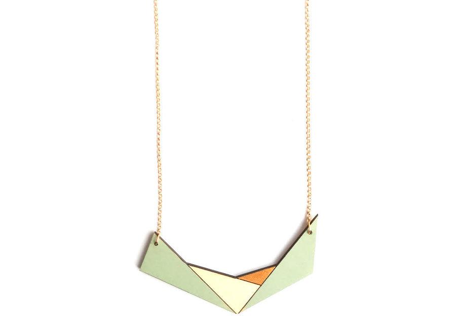 Ella Marie - Geometrische halsketting - Munt