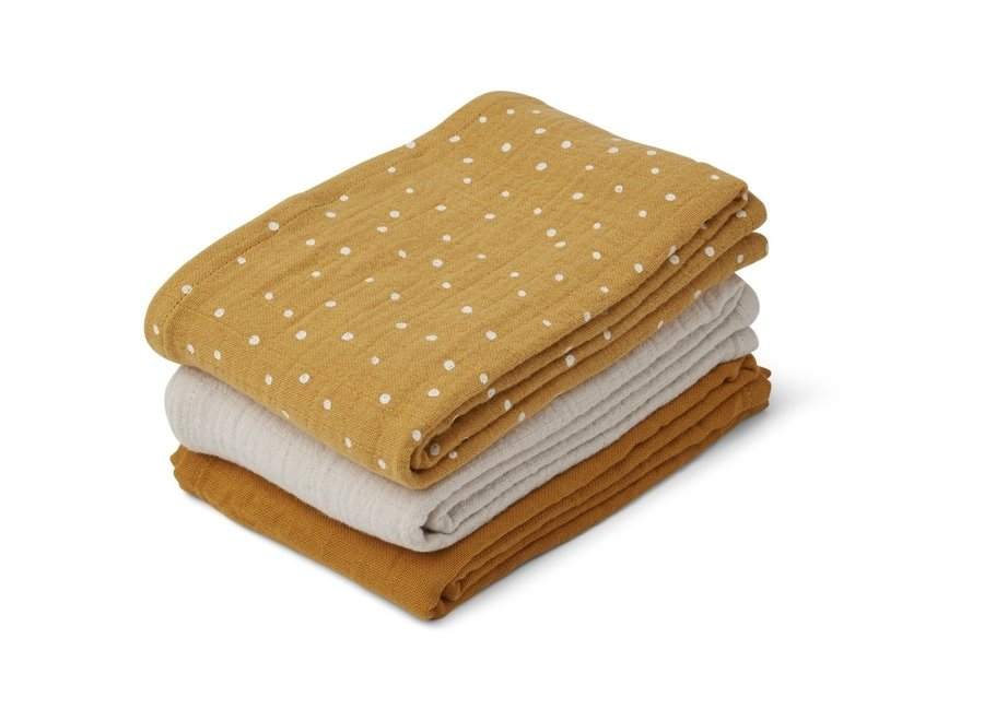 Liewood - Line muslin cloth - Confetti Yellow Mix